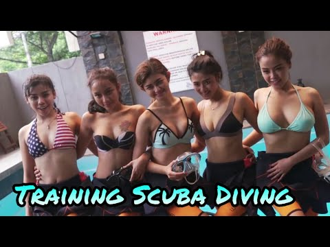 Training Scuba Diving ! Miss Popular 2017