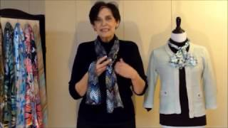 how to tie a scarf 2 rectangle scarves