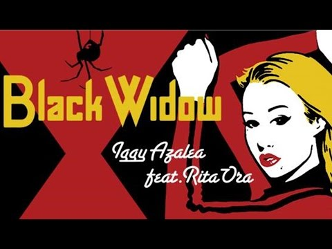 Iggy Azalea feat Rita Ora - Black Widow (Lyrics On Screen HQ) OFFICIAL UNPITCHED AUDIO