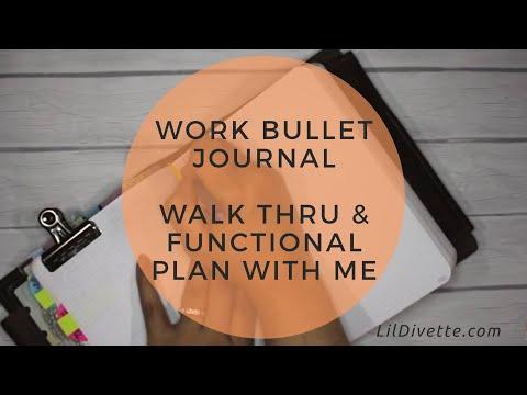 Work Bullet Journal - Walk-thru & Functional Plan with Me