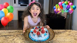 Happy Birthday Party Cake Surprise with fruits