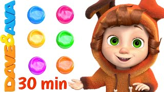 🎨 Colors Song and More Nursery Rhymes and Kids Songs | Learn Colors with Dave and Ava 🎨