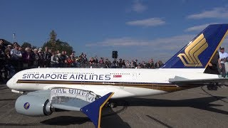 RC A-380 gigantic turbine Airbus Singapore Airlines a piece of Art by Peter Michel's