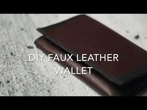 DIY Faux Leather Wallet