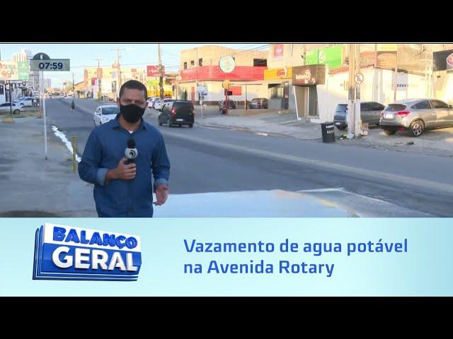Desperdicio de água: vazamento de agua potável na avenida Rotary já dura vários dias