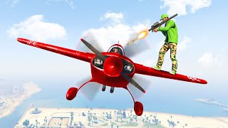 EXTREME MID AIR PLANE TAKEDOWN! (GTA 5 Funny Moments)