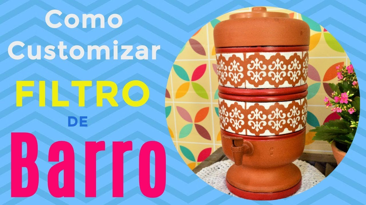 Como Pintar Filtro De Barro Youtube