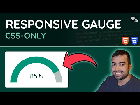 Responsive Gauge (CSS-Only) - HTML, CSS & JavaScript Tutorial