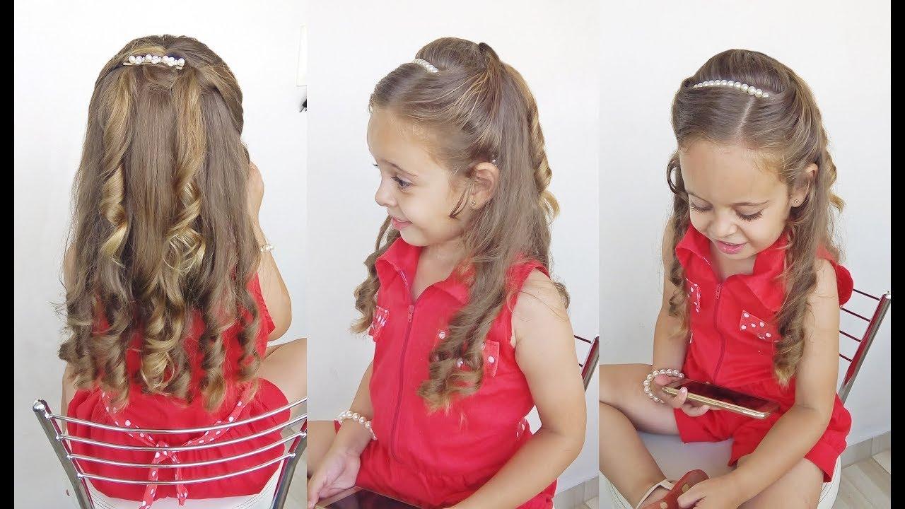 Penteado Infantil fácil com cabelo meio preso para festa e formatura. Mania de  Penteado bc91a568c14