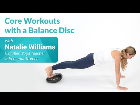 How to Use a Balance Disc for Core Exercises