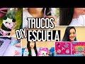 DECORA ÚTILES ESCOLARES Y TRUCOS PARA CLASE/  life hacks para la escuela ♥ - Nelita