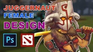 How to draw Juggernaut Female Version Design | Dota 2 by BMSOLARI