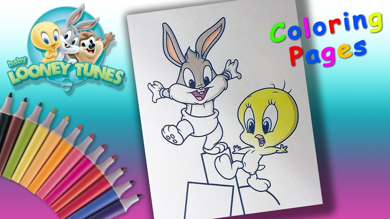 - Baby Looney Tunes Coloring Book For Children. Baby Bugs And Baby