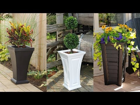 Mayne Tall Patio Planters