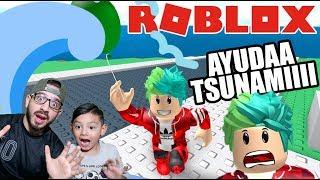 Sobrevive al Tsunami de Roblox   Roblox Natural Disaster   Juegos Karim Juega
