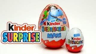 Kinder Maxi Surprise Big EGG with Hippo Surprise Toys and Candy