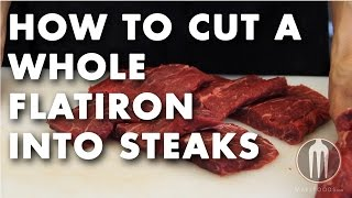 How To Cut A Whole Flatiron Into Steaks Tutorial Video