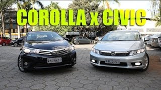 Civic X Corolla: Os sedãs mais vendidos do mercado