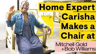 Carisha Makes a Mitchell Gold + Bob Williams Chair | For What It's Worth | House Beautiful
