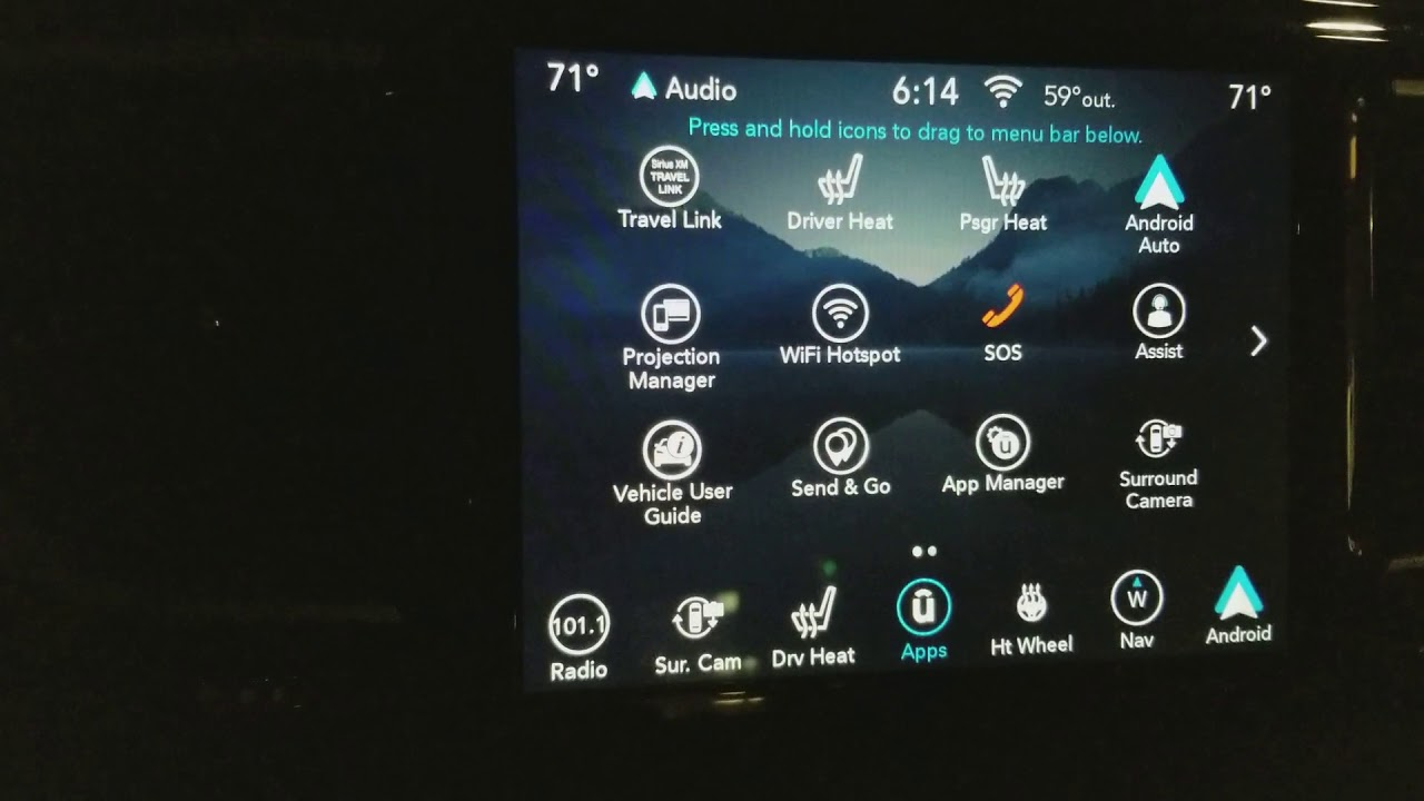 2018 Chrysler Pacifica Uconnect reboot issues update