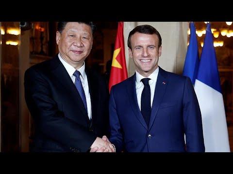 ماكرون يلتقي بنظيره الصيني -شي جين- في نيس  - نشر قبل 2 ساعة