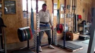 Karl Gillingham 400 kilo reverse band deadlift.