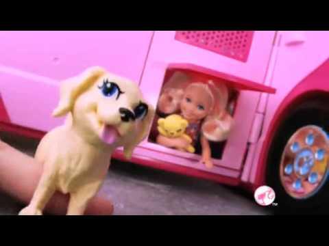 barbie camping car vu la t l youtube