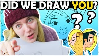 DRAWING YOUR FACES! - Lets Draw Subscribers