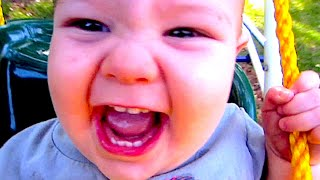 Cute Baby On A Swing!!! - Thefunnyrats Family Vlog