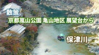 【散策】京都嵐山公園 亀山地区 展望台からの保津峡の眺め!