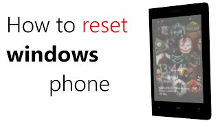 How to reset or recover windows phone from windows 10 preview to windows 8.1