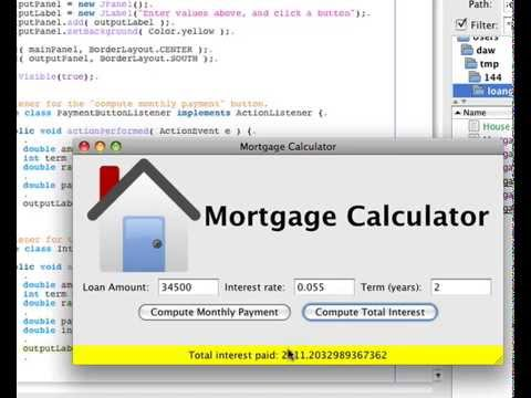 gui mortgage calculator basic Html code for our basic calculator we've called it calculator each input button has a value - this is what will be displayed on the button, for.