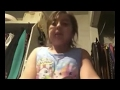 Little girl fart on camera and tried to play it of FAIL WIN