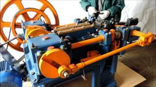 видео Мини производство гвоздей станок для производства