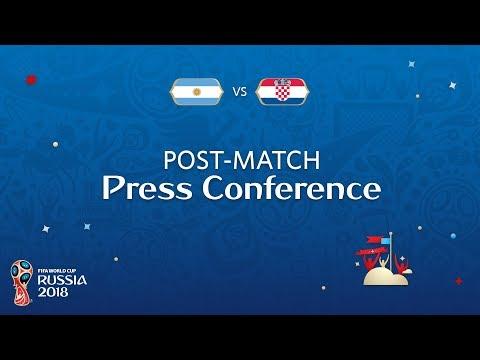FIFA World Cup™ 2018: Argentina v. Croatia  PostMatch Press Conference