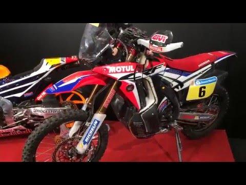 CRF Rally # (Joan Barreda ) at Honda booth, Tokyo Motorcycle Show
