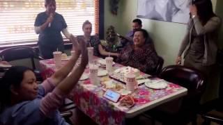 Cece can sing! Karaoke lunch at south pasadena dental!