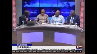 The RTI Bill - PM Express on JoyNews (5-11-18)