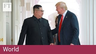 N Korea television reports on Trump-Kim summit