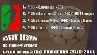 Турнир по мини футболу КУБОК КАЗАНИ среди юношей 2010 2011 года рождения 2