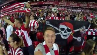 Футбольные фанаты Страны Басков и Испании. Атлетик-Реал Мадрид