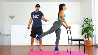 Simple Butt & Legs Workout with Trainer | Addsfit Massage Gun Review