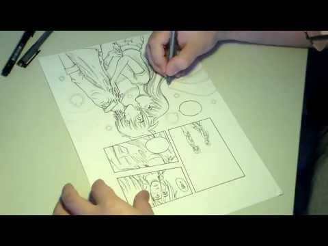 Como desenho uma página de história em quadrinhos