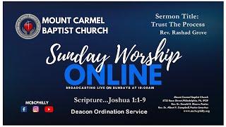 Sermon Title: Trust The Process....Rev. Rashad Grove