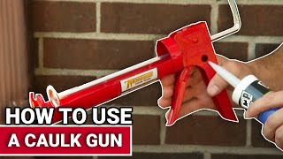 How To Use A Caulk Gun - Ace Hardware