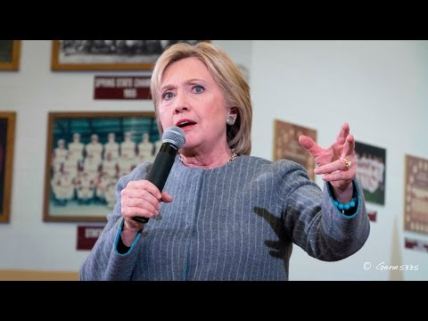 Hillary Clinton Speaking at Abraham Lincoln High School in Des Moines, Iowa