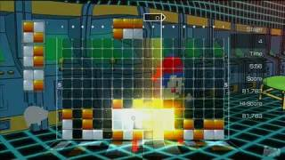 Lumines Supernova PlayStation 3 Gameplay - 8 Bit Skin