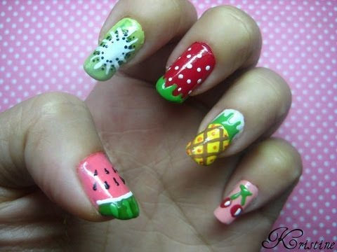 Fruits Nail Art - Fruits Nail Art - YouTube