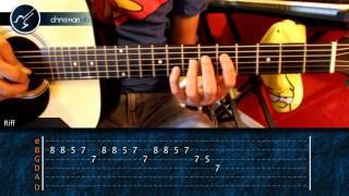 """Cómo tocar """"Cielito Lindo"""" en guitarra / Punteo (HD) Tutorial - Christianvib"""