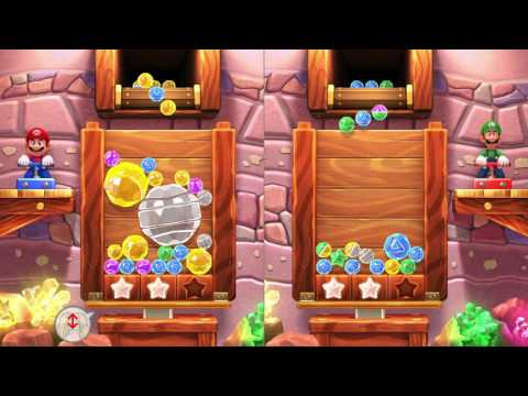 MARIO PARTY 10 ~ BONUS GAMES ~ JEWEL DROP ~ MARIO VS. VERY HARD LUIGI - NO COMMENTARY